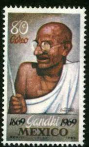 MEXICO C352, Centenary birth of Mahatma Gandhi. MINT, NH