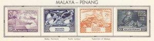 MALAYA-PENANG  VF-MH  UNIVERSAL POSTAL UNION/ 75th ANNIVERSARY SET
