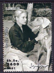 Somalia 2001 GRACE KELLY AND DOG  (1) MNH