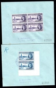 Falklands 1946 Victory South Georgia Registered FDC pair WS14299