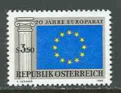 Austria # 838 Council of Europe  (1) Mint  NH