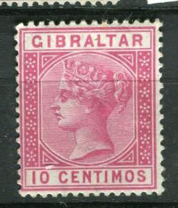 GIBRALTAR; 1889 early classic QV issue fine Mint hinged Shade of 10c. value