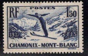 FRANCE Scott 322 MH* 1937 Mont Blanc Ski Meet