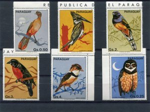 Paraguay 1985 EXOTIC BIRDS set 6 values Perforated Mint (NH)