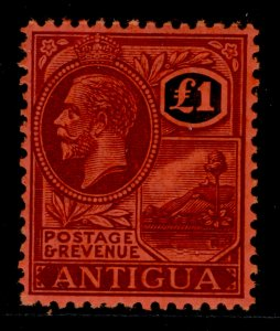 ANTIGUA SG61, £1 purple and black/red, NH MINT. Cat £250.