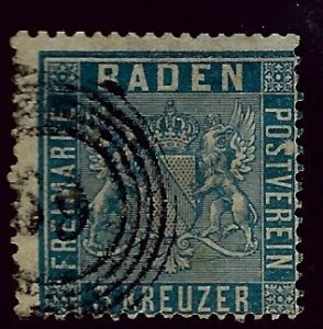 Baden SC#12 Used Fine SCV$16.00...Worth a Close Look!