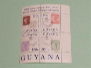 Guyana - 796, MNH Block of 4. Postal Anniversary. SCV - $5.00