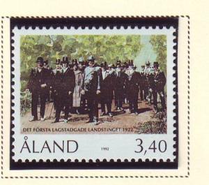 Aland Sc 68 1992 Provincial Parliament stamp mint NH