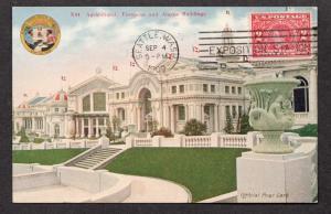 **US 1909 Alaska Yukon Pacific Expo Post Card #9, SC# 370, CV $65.00