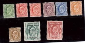 Falkland Islands #22 - #29 & #23a VF Mint Set