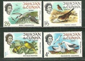 Tristan da Cunha MNH 116-9 Island Birds