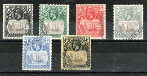 Ascension 1924-33 Badge of St Helena values to 4d, SG 10-15 FU CDS