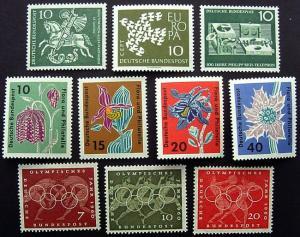 Germany, 10 Mint Commems, Scott 813 // 860