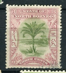NORTH BORNEO; 1897 early pictorial issue fine used 3c. value