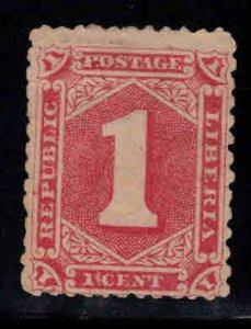 LIBERIA Scott 24a Rose color Mint No Gum, MNG