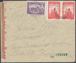 1943 Serbia Censored Cover to Braunschweig Germany Concentration Camp KZ