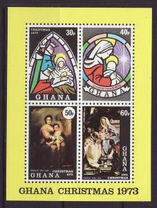 1973 Ghana Christmas MS Mint