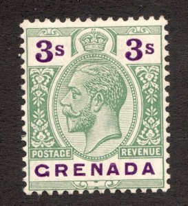 Sc 110 - Grenada - 1922 - 3s - Edward VII -  MH  VF -  superfleas - cv$11