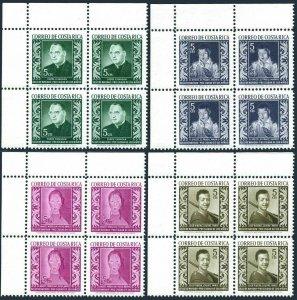 Costa Rica RA3-RA6 blocks/4,MNH. Tax stamps 1959.El Greco,Ribera,Modigliani