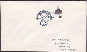 NEW ZEALAND ANTARCTIC 1977 cover 20th Anniv Scott Base commem pmk..........35565