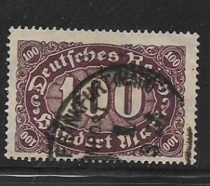 Germany Sc. # 199 Used Inflation Issue Wmk.126 - L67