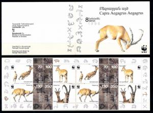 [54135] Armenia 1996 Wild animals Mammals WWF Deer MNH Booklet