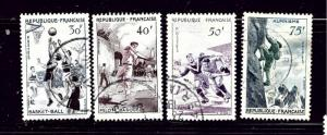 France 801-04 Used 1956 Sports