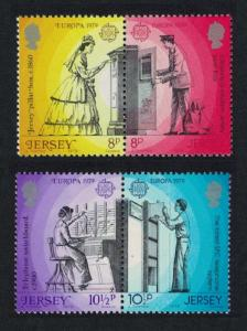 Jersey Europa CEPT 1979 Communications 2v in pairs SG#204-207