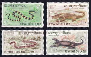 Laos Snake Crocodile Viper Monitor Reptiles 4v SG#223-226 SC#156-159