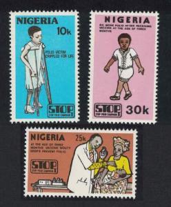 Nigeria Stop Polio Campaign 3v SG#466-468