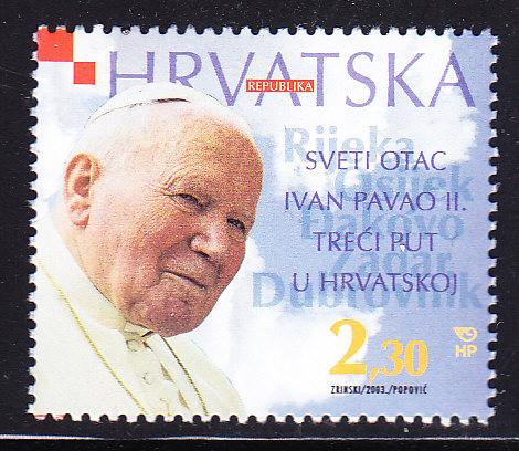 Croatia 2003 2.30k Visit by Pope John Paul  VF/NH(**)