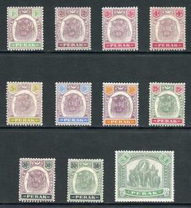 Perak SG66/76 1895 Set of 11 M/Mint