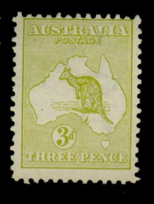 Australia #5 MINT FIne OG HR Cat$140