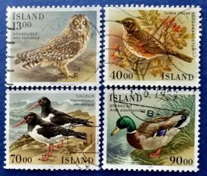 Iceland Birds Stamp Set Scott # 642-5 Used (I723)