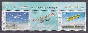 2003 Lithuania 833-834Tab Airplanes