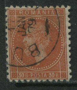 Romania 1878 30 bani orange red CDS used