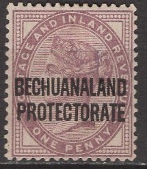 Bechuanaland Protectorate; 1897: Sc. # 70; */MH Single Stamp