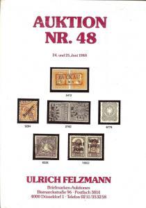 Felzmann: Sale # 48  -  Auktion NR.48, Ulrich Felzmann Sa...