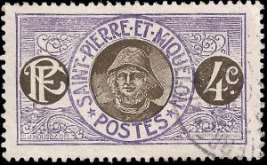 St Pierre & Miquelon 1909 Sc 81 used vf