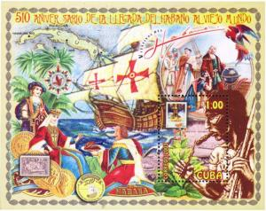 G)2003 CARIBE, MAP-CARAVEL-TOBACCO PLANT-EUROPE QUEEN-COMPAS