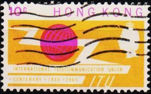 Hong Kong. 1965 10c S.G.214 Fine Used