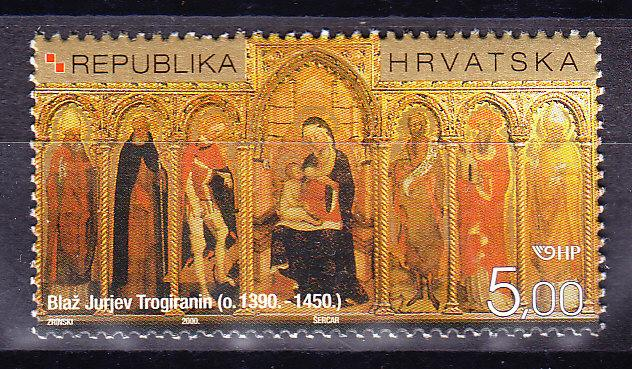 Croatia  2000 5.k Croatian Painter ART Blaz Jurjev Trogiranin   VF/NH