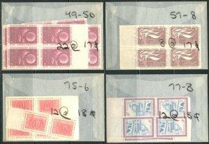 UN NY Sc#49-50//83-84 1957-60 Seven Complete Sets Wholesale Qty OG Mint NH