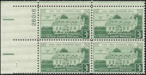 1108 Mint,OG,NH... Plate Block of 4... SCV $1.00