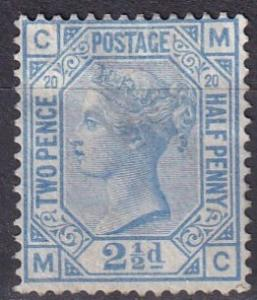 Great Britain #68 Plate 20 F-VF Used  CV $65.00 Z26