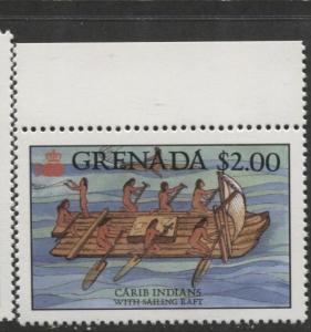Grenada-Scott 1502 -Discovery of America Issue -1987- MNH- Single $2.00 Stamp