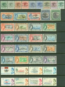 EDW1949SELL : BAHAMAS Collection of 5 CPLT Defin sets between 1942-1967 Cat $209