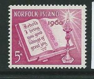 NORFOLK ISLAND SG41 1960 CHRISTMAS MNH