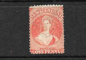 NEW ZEALAND 1862-64  1d  ORANGE VERMILLION FFQ  p13  MNG  CP A1F1  SG 68 CHALON
