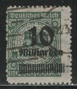 Germany Reich Scott # 321, used, exp h/s